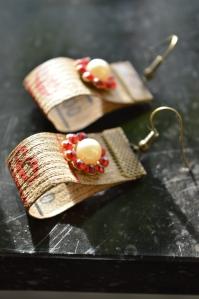 Örhängen antikt måttband
