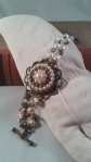 Armband, återbruk örhänge och pärlor